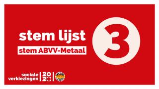 Stem lijst 3, stem ABVV-Metaal.